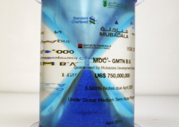Coloured Lucite Hour Glass Financial Deal Gift