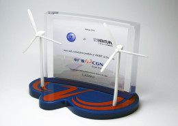 wind energy tombstone lucite