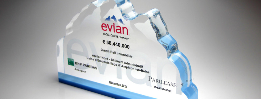 evian lucite deal toy