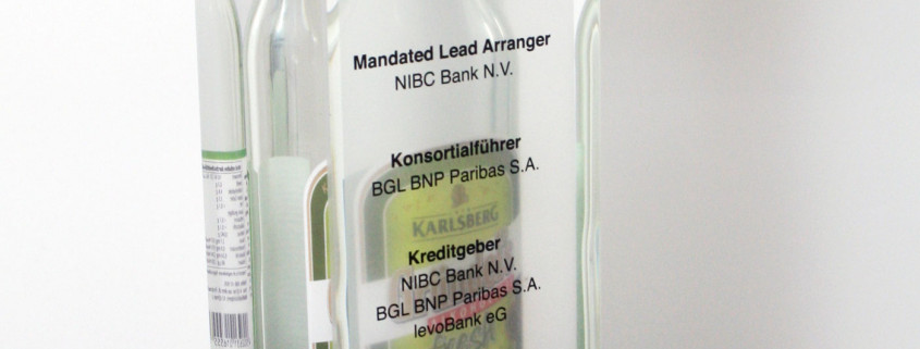 Encapsulated Bottle In Lucite