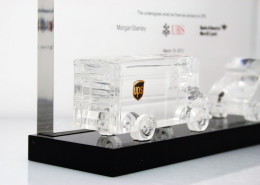 Financial Lucite Model Vehicle