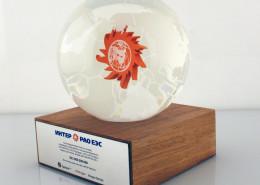 Lucite Encapsulated financial globe